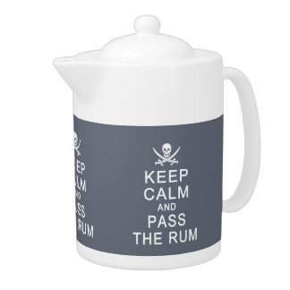 Keep Calm & Pass The Rum custom teapots