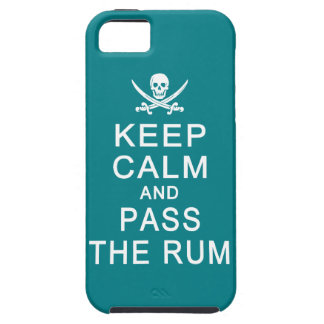 Keep Calm & Pass The Rum iPhone Case-Mate iPhone 5 Cases