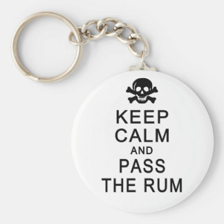 Keep Calm & Pass The Rum key chain