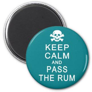 Keep Calm & Pass The Rum magnet