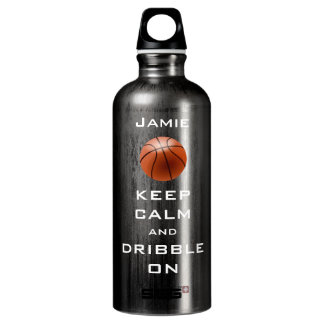 KEEP CALM PERSONALIZED Basketball Water Bottle