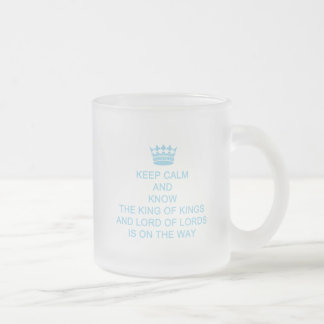 Keep Calm Personalized Faith Frosted Glass Mug
