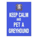 Keep Calm Pet Greyhound Announcement