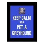 Keep Calm Pet Greyhound Postcards