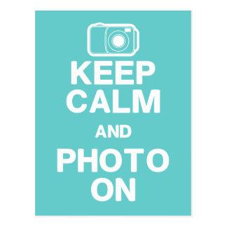 Keep Calm & Photo On Postcard
