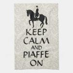 Keep Calm & Piaffe On Dressage Hand Towel