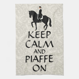 Keep Calm & Piaffe On Dressage Hand Towel