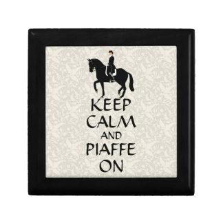 Keep Calm & Piaffe On Dressage Keepsake Box