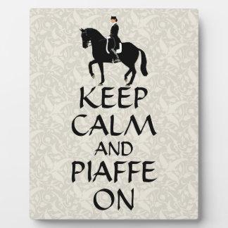 Keep Calm & Piaffe On Dressage Plaque