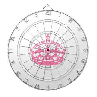 Keep calm pink victory crown dartboard