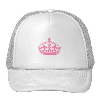 Keep calm pink victory crown trucker hat
