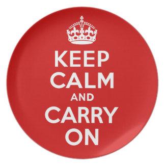 Keep Calm Plate