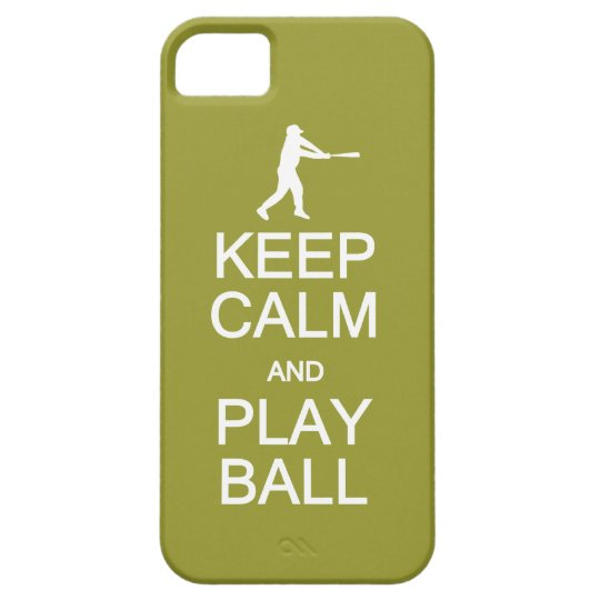 Keep Calm & Play Ball custom color iPhone SE/5/5s Case