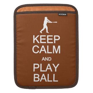 Keep Calm & Play Ball custom color Sleeve For iPads