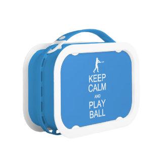 Keep Calm & Play Ball custom lunch boxes