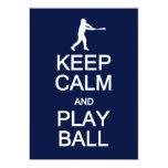 Keep Calm & Play Ball invitation, customize