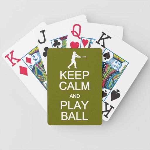Keep Calm & Play Ball playing cards