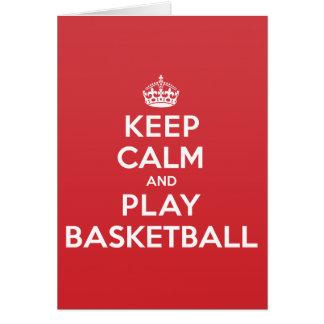 Keep Calm Play Basketball Greeting Note Card