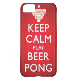 Keep Calm Play Beer Pong Phone Case iPhone 5C Cases
