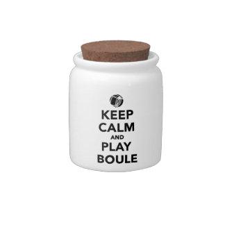 Keep calm play Boule Boccia Candy Dish