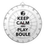 Keep calm play Boule Boccia Dart Boards