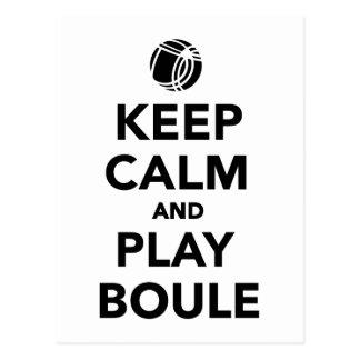 Keep calm play Boule Boccia Postcard