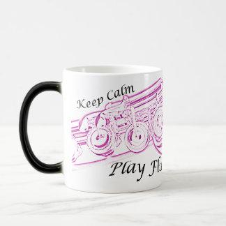 Keep Calm Play Flute Mug for Flute Musician