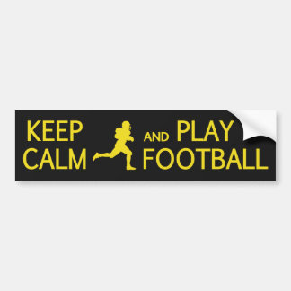 Keep Calm & Play Football custom bumpersticker Bumper Sticker