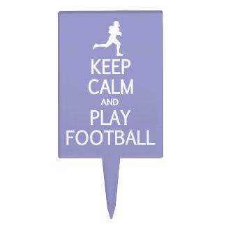 Keep Calm & Play Football custom color cake topper