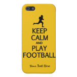 Keep Calm & Play Football custom color cases Cover For iPhone 5/5S
