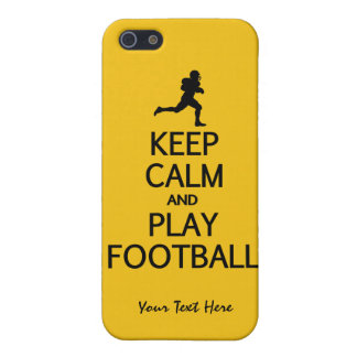 Keep Calm Play Football custom color cases Cover For iPhone 5/5S