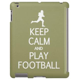 Keep Calm & Play Football custom color iPad case