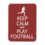 Keep Calm & Play Football custom color magnet