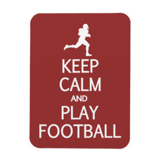 Keep Calm & Play Football custom color magnet