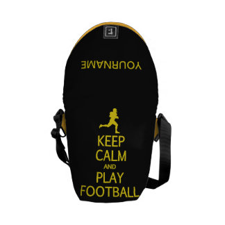 Keep Calm & Play Football custom messenger bag
