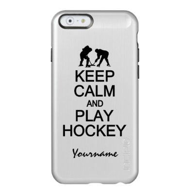 Keep Calm & Play Hockey custom cases
