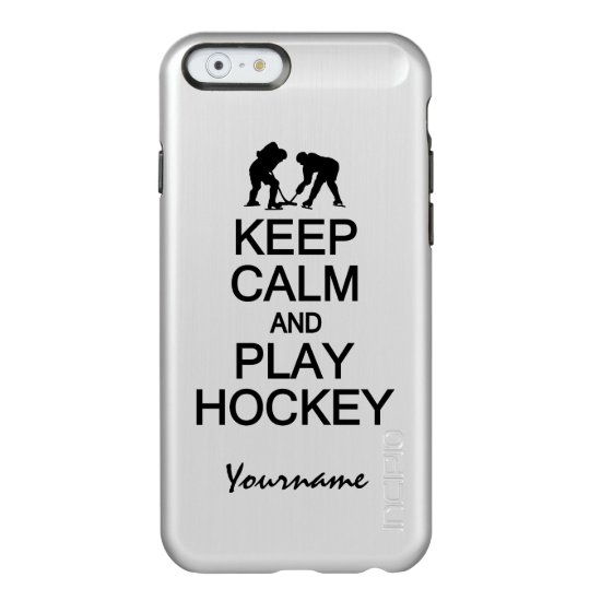 Keep Calm & Play Hockey custom cases