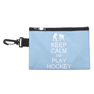 Keep Calm & Play Hockey custom color accessory bag