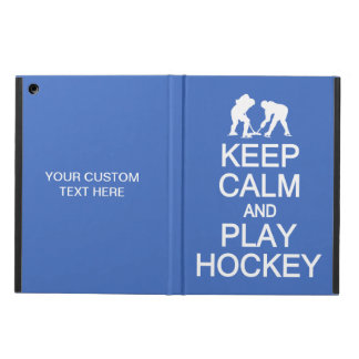 Keep Calm & Play Hockey custom color cases iPad Air Covers