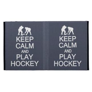 Keep Calm & Play Hockey custom color iPad folio iPad Folio Cases