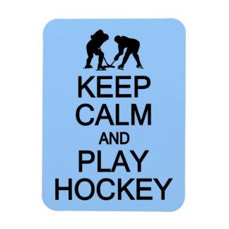 Keep Calm & Play Hockey custom color magnet
