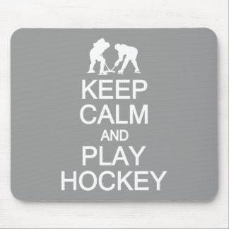 Keep Calm & Play Hockey custom color mousepad