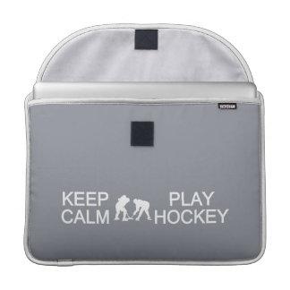Keep Calm & Play Hockey custom MacBook sleeve