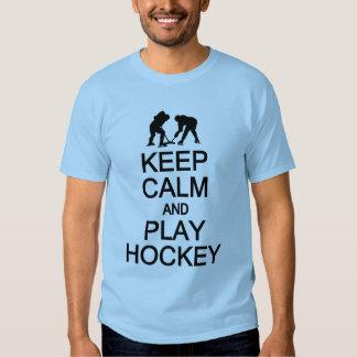 Keep Calm & Play Hockey shirt - choose style, colo