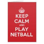 Keep Calm Play Netball Greeting Note Card