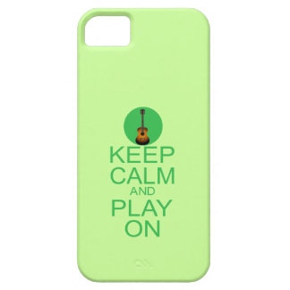 Keep Calm Play On Guitar (Parody) iPhone 5 Covers