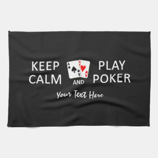 KEEP CALM & PLAY POKER custom hand towel
