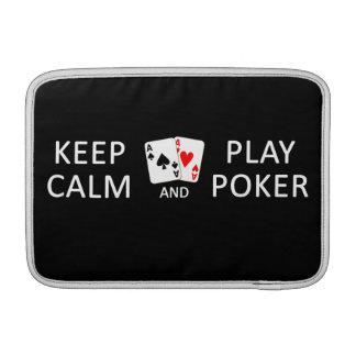 Keep Calm & Play Poker custom iPad / laptop sleeve