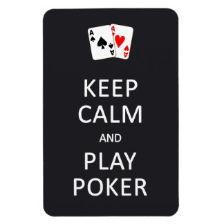 KEEP CALM & PLAY POKER custom magnet