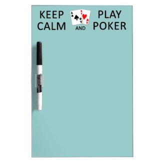 KEEP CALM & PLAY POKER custom message board